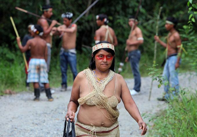 Улыбка дамы из индейцев. Круче, чем у многих news-kvartal.ru